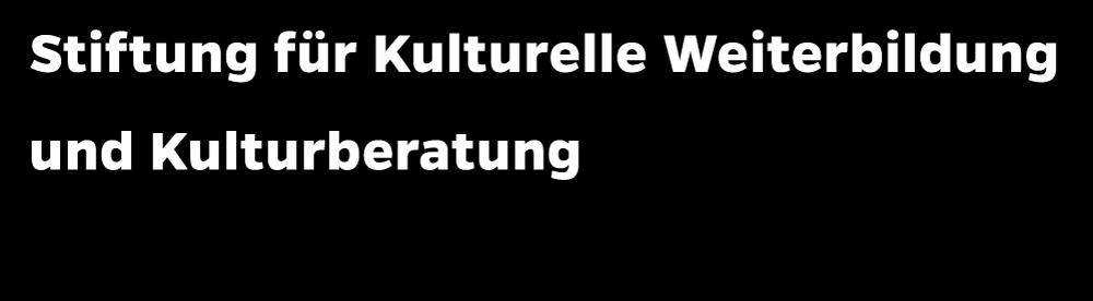 Logo: Stiftung für Kulturelle Weiterbildung und Kulturberatung Stiftung öffentlichen Rechts