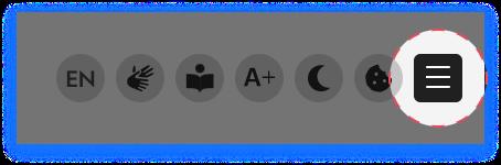 Screenshot mit dem Icon für das Menu Icon