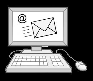 Cpmputer, der E-Mail anzeigt