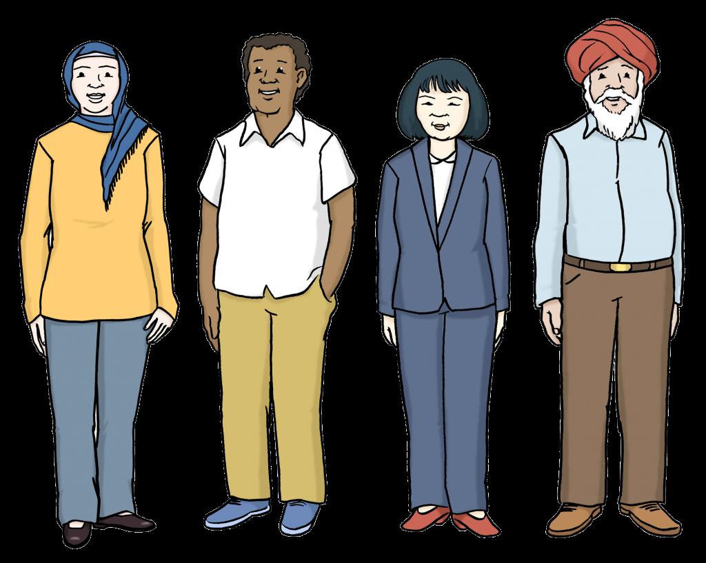 Eine diverse Gruppe von Menschen. People of Colour