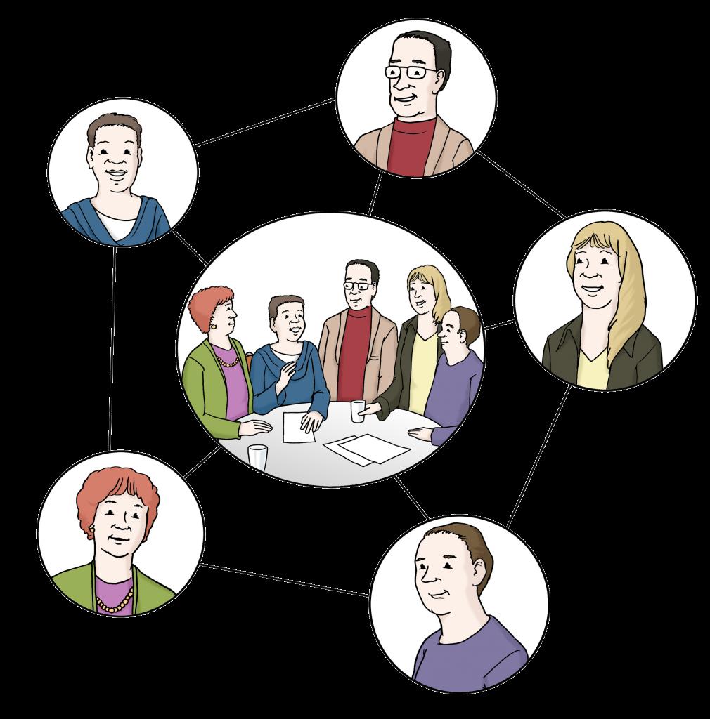 Symbolbild: Personen sind durch Linien miteinander verbunden