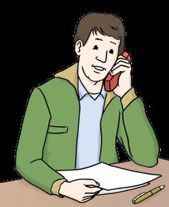 Telefonierender Mann